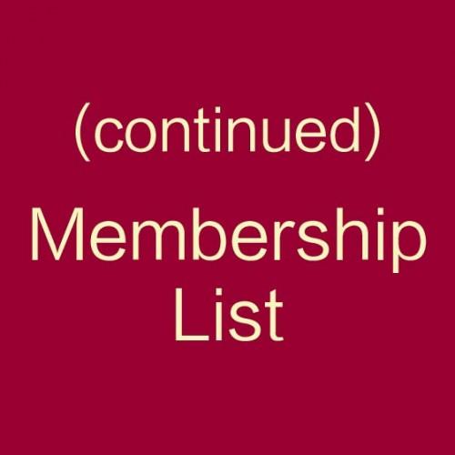 Membership list (continued)